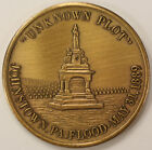 """1889 Johnstown, PA Flood """"Unknown Plot"""" Bronze Medal, Inclined Plane (Funicular)"""