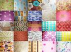 RETRO 100% COTTON large 70's prints VARIOUS cushion curtains fabric (free P&P)