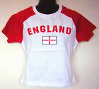 England English Flag Red White Cropped Soccer Jersey T Shirt Top NWT