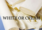 Cream / White Cotton Sateen Curtain Lining By The Metre