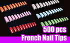 500pcs FRENCH Style Acrylic False Nail Tips Nail Art