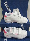 "Reebok Girls Wht/Pink Trainers ""CL COURT SET 2V"""