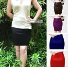 NEW Satin Skirt Mini Skirt UK 4~20 #GF0640