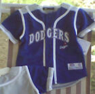 Los Angeles DODGERS Youth Baseball Jersey 2T 3T 4T NWT  Blue/Gray Uniform