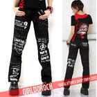 PUNK VISUAL KEI BLACK STUB SLIM ZIP UP 71115 PANTS S-XL