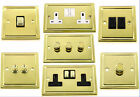 G&H Trimline Plate Polished Brass Light Switches & Dimmers & Plug Sockets