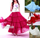 New Womens Ladies Full Circle Chiffon Skirt Long Skirt #GF0690