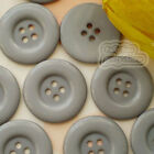 Grey 4 Holes Plastic Buttons Sewing Cardmaking Scrapbooking 17mm,27mm,33mm