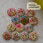15mm Wood Buttons Sewing Scarpbooking Cardmaking Craft SW