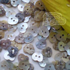 Natural Heart 10mm Mother Of Shell Buttons Sewing Scrapbooking Beads Craft MOPH