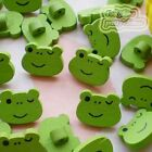 Green Frog Wood Buttons 18mm Sewing Craft Scrapbooking CWB018
