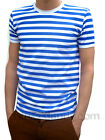 MENS stripey tee t-shirt blue white indie mod sailor NEW preppy nautical
