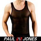 Sexy Mens Mesh muscle Sleeveles T shirt Thermal underwear Tank top Vest Tops