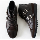 New Mens Hybrid Casual Band Ankle Boots Brown Shoes