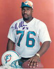 MIAMI DOLPHINS AUTOGRAPHED 8 X 10 COLOR PHOTO BILLY MILNER !!!