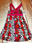 Girls' Zoey Girl Pink/Red/Black/White Floral Print Easter Sundress Sizes 5, 6