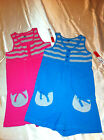 Girls' UK Style French Connection Blue or Pink & Gray 1-Pc Romper Sizes M, L, XL