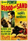 Vintage Old Movie Poster Blood And Sand 1941 Art Print A4 A3 A2 A1