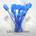 "7"" BLUE COCKTAIL STIRRERS SWIZZLE STICKS PACK OF 10, 25, 50,100, 250, OR 500"