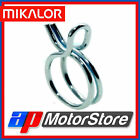 Mikalor Self Clamping Fuel Hose Clips Silicone Pipe Clamp Double Wire - 10Pk