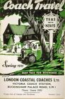 Vintage Old Transport Poster Coach Travel Spring 1939 Print Canvas A4 A3 A2 A1