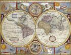 Vintage Map 35 The World Globe Atlas Art Print A4 A3 A2 A1