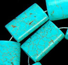 15x25mm Blue Turquoise Oblong Beads 15.5""
