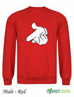 DRAKE MICKEY MOUSE HANDS YMCMB YOLO Sweatshirt  S-2XL FREE P&P - red
