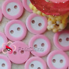 Pink 2 Holes 11mm Plastic Buttons Sewing Craft Scrapbooking PCB-B08