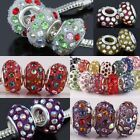 Resin Crystal Big Hole Loose Rondelle Charm European Beads Finding Fit EP Chain