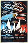 EARTH VS THE FLYING SAUCERS 3 B-MOVIE REPRODUCTION ART PRINT A4 A3 A2 A1