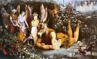Titania And Bottom John Anster Fitzgerald Art Print A4 A3 A2 A1