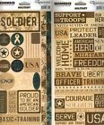 MILITARY REMINISCE STICKERS Scrapbooking ACCENT & PHRASE Cardstock CHOICE