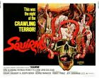 SQUIRM 02 VINTAGE CLASSIC B-MOVIE REPRODUCTION ART PRINT A4 A3 A2 A1