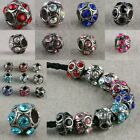 Wholesale Colors Crystal Austrian Alloy Metal European Beads Fit Charms Bracelet