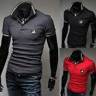 Mens Stylish Casual Slim Fit  Short Sleeve Polo Shirt T-shirts Tee Shirt E668