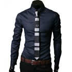 New 2012 Fashion Luxury Mens Casual Slim Fit Dress Shirts 3Color 5 Size Choose