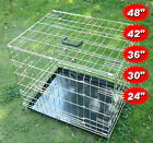 Dog Pet Cages Puppy Crates Carrier Small Medium Large Extra Training Balck Gold