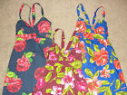 NWT Hollister Women's Flower Summer Sun Dress Yellow Red Floral  Sizes XS S M L