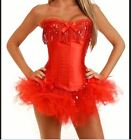 Burlesque Moulin Rouge Corset & tutu /skirt Fancy dress outfit Hen Party Costume