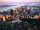Aerial View of Downtown Boston Cityscape 23 Repro Art Print A4 A3 A2 A1