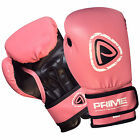 Brand New Ladies Rex Leather Machine Molded Foam Boxing Gloves Pink Fight Punch