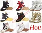 Womens Velcro Strap High-TOP Sneakers Shoes/Ladys Ankle Wedge Boots size:35-41