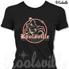 Ladies Cafe Racer T-shirt, Girl Rocker, Lady Biker, Ton-Up, Rockabilly, Retro