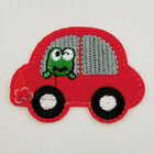 Orange Red Frog In Car Iron On Patches 5.5x4.5cm R1227-5