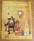 1961 Miller High Life Beer Ad Couple Lady Cutting Carots