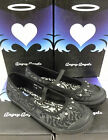 """Start-Rite """"Angry Angels"""" Girls Black Fashion Canvas """"CHIC"""""""