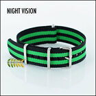 Black & Green G10 NATO Military Watch Strap Night Vision