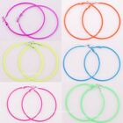 5pairsCandy colors Circle Basketball Wives Hoop Earrings 56mm