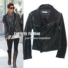 jp10N Celebrity Style Asymmetrical Zipper Faux Leather Jacket/Vest Worn 2 Styles